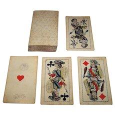 "Johann Nejedly ""Industrie und Glück"" Tarock Cards (Partial Set:  52/54), c.1870"