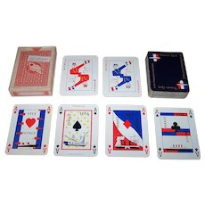 """Grimaud """"French Line"""" (""""Compagnie Generale Transatlantique"""") Maritime Playing Cards, M. Marie Designs, c.1962"""