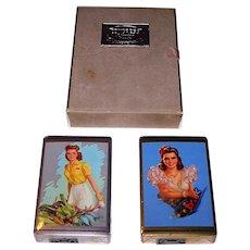 "Double Deck Congress ""Jules Erbit"" Pin-Up Playing Cards, c.1947"