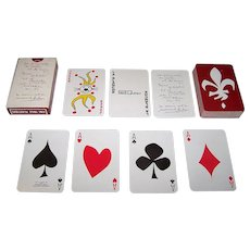 "Carta Mundi ""La Blanche"" Playing Cards, for Promo-Quebec, Friedland of Paris Publisher, Normand Hudon Designs, c.1973"