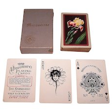 "Dougherty ""Marguerite #130"" Playing Cards, ""Golden Iris"" Backs, c.1927"