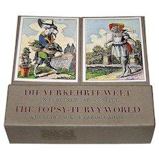 "Edition Leipzig ""Die Verkehrte Welt: Ein Berliner Tarockspiel"" (""The Topsy Turvy-World: A Berlin Pack of Taroc Cards"") Facsimile Playing Cards [1815 Deck by Muller of Berlin] Ltd. Ed. ___/2000 (1000 for Edition Popp), c.1982"