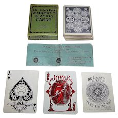 "S.S. Adams Co. ""De Lands Automatic Playing Cards"" w/ De Land's Card Locator and Explanation of Deland Dollar Deck, c.1918"