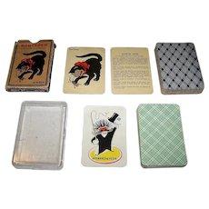"2 ""Old Maid"" Type Card Games, $15/ea.: (i) Handa ""Sorteper,"" c.1950s; and (ii) ASS ""Schwarzer Peter"""