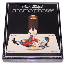 "Grimaud ""Anamorphoses"" Playing Cards, Pino Zac Designs, Anamorphic Art, c.1983"