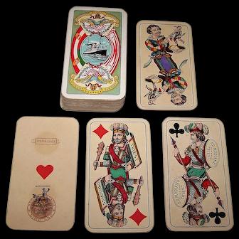 """Modiano """"Industrie und Glück"""" Maritime Tarock Cards, """"Austro-Americana   Line,"""" c.1918"""