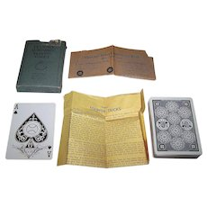 """S.S. Adams Co. """"De Lands Automatic Playing Cards"""" (52/52, NJ) w/ Paper Explanatory Inserts, c.1918-1940"""