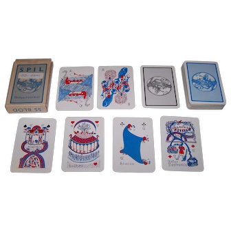 "Handa ""Midgardsormur Spil"" Playing Cards, Sigurlinni Petursson Publisher, Sigurlinni Petursson Designs, c.1958"