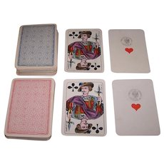 """Twin Decks C. L. Wüst No. 223 """"House Pattern Type 1"""" Playing Cards, c.1879-1888 ($45/ea.)"""