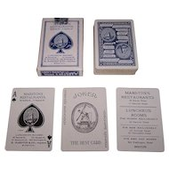 """USPC """"Marston's Special Whist"""" Playing Cards, Marston's Restaurants, c.1910"""