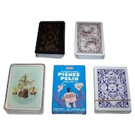 "5 Decks Non-Standard Playing Cards, $15/ea.: (i) Carta Mundi, ""John Player Special"" c.1985; (ii) Lo Scarabeo ""Pinocchio""; (iii) Fournier ""Baraja Historica"" c1954; (iv) Tactic ""Fingerpori Pisnes-Pelin""; (v) Lion ""Jacob's Bible"""