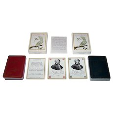 "Twin Decks Grimaud ""Jeu Buffon"" Playing Cards, Jacques Hiver Designs, c. 1988 ($30/ea.)"