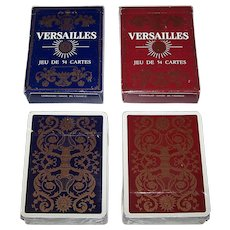 "Twin Decks Grimaud ""Versailles"" Playing Cards, Mlle. Matéja Designs, c.1969"