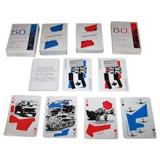 "Twin Decks Grimaud ""Normandie 1944-1994"" Playing Cards, Yannick Pennanguer Designs, c.1994 ($25/ea.)"