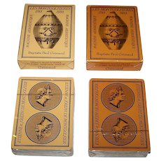 "Twin Decks Grimaud ""Les Montgolfieres"" Playing Cards, c.1983 ($30/ea.)"