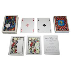 "Grimaud ""Vitraux Moyen Age"" Playing Cards, Moncar Designs, c.1985"