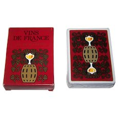 "Grimaud ""Vins de France"" Playing Cards, 1st Ed., Gilles Sacksick Designs, c.1980"