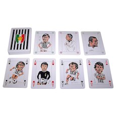 "Solleone (Plastic Cards) ""Juventus"" Playing Cards, Franco Bruna Designs, c.1975"