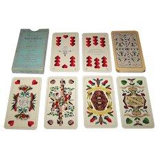 "VASS ""Altenburger Salon-Karte No. 148"" Skat Playing Cards, Saechsisches Doppelbild, ""Kornblume"" Backs, c.1931"