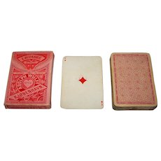 "Wüst ""L'Hombre No. 64, -- Medieval Pattern,"" L'Hombre Playing Cards, for Adolph Wulff Copenhagen, c.1900-1910"