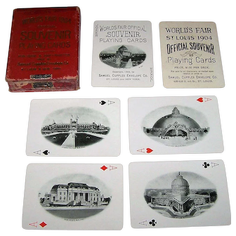 "Samuel Cupples Envelope Co. ""St. Louis World's Fair (Louisiana Purchase Exposition)"" Souvenir Playing Cards, c.1904"