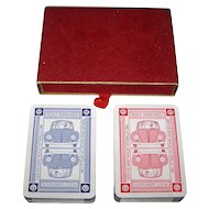 "Double Deck Handa ""444"" Playing Cards, VW Advertising – Roed Sorensen, c.1960s"