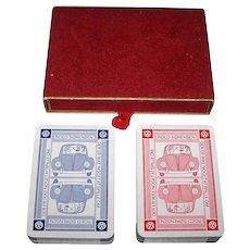 "Double Deck Handa ""444"" Playing Cards, VW Advertising – Roed Sorensen, c.1960s"