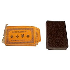 """Brepols & Dierckx Zoon S.A. """"Cartes Marbrées No. 2"""" (""""Marble Cards"""") Playing Cards w/ Wrapper, c.1904"""