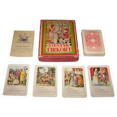 "Drechsler ""Eventyr Firkort"" (""Fairy Tales"") Quartet Card Game, c.1960s"