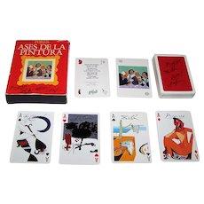 "Naipes Comas ""Ases de la Pintura"" (""Aces of Painting"") Playing Cards, c.1990"