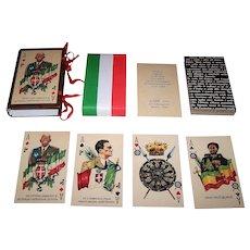 """Il Meneghello """"Cinquantenario della Fondazione dell 'Impero"""" Playing Cards, Ltd. Ed. (1399/2,000), c.1986"""