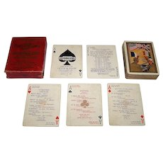 """Levis & Cook """"Playanlern"""" World War I Playing Cards, """"Play Cards and Learn French,"""" c.1918"""