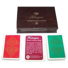 """Double Deck ASS """"Königin"""" (""""Queen"""") Playing Cards w/ Dondorf """"Prince"""" Court Cards, 16-Color Printing, c.1970s (?)"""