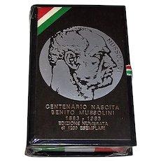 """Il Meneghello """"Benito Mussolini"""" Playing Cards, Ltd. Ed. (___/1200), c.1983"""
