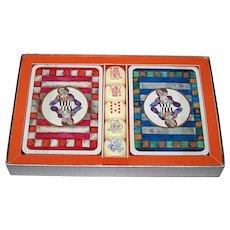 "Double Deck Matthieu Lithographe ""Boulanger"" Playing Cards, Senans Publisher, Ltd. Ed. (6064/9999), Graciela Rodo Boulanger Designs, w/ Dice, Martin Art, Inc. Letter, c.1970"