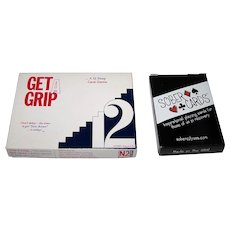 """2 Sets of 12-Step Recovery Cards: (i) N2 Action Game Company """"Get A Grip"""" Card Game, c.1995 ($20 separately); (ii) Sober City """"Sober Cards"""" Playing Cards ($10 separately)"""