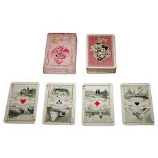 "Dondorf ""Schweitzer Trachten"" (""Swiss Costumes"") Patience Playing Cards, Dondorf No. 189, c. 1910,"