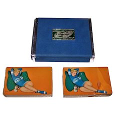 """Double Deck Arrco """"Esquire"""" Canasta Pin-Up Cards, Al Moore Designs, c.1951"""