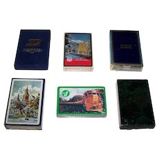 6 Decks Railroad Playing Cards Various Makers and Railroads, $10/ea.