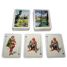 "Double Deck Bielefelder (E. Gundlach) ""Rokoko"" Playing Cards, E. Gundlach Designs, c.1950"