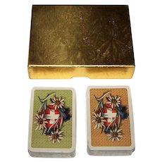 """Double Deck Muller """"La Suisse Historique"""" Patience Playing Cards, Melchior Annen Designs"""