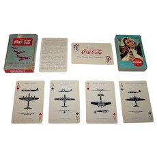 """USPC """"Coca Cola Aircraft Spotters"""" Playing Cards, WWII War Deck, c.1942"""