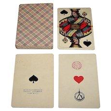 """Franz Adametz """"Wienerbild II, Large Crown"""" Schnaps Playing Cards, c.1945"""