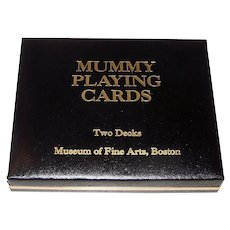 """Double Deck USPC """"Mummy"""" Playing Cards, Museum of Fine Arts Boston Publ., Kyung Mi Ahn Designs, c.1992"""