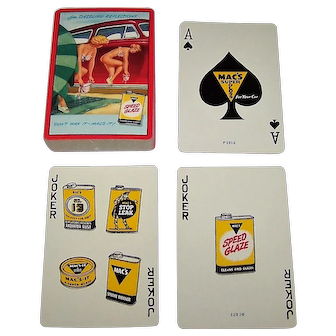 "USPC ""Mac's Super Gloss"" Pin-Up Playing Cards, c.1951"
