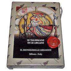 "Il Meneghello ""22 Talismani in 22 Arcani"" Tarot Cards, Osvaldo Menegazzi Designs, Ltd. Ed. 202/250"