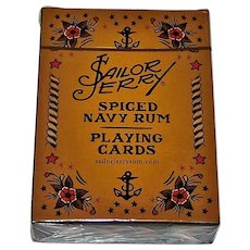 """""""Sailor Jerry"""" Pin-Up Playing Cards, Sailor Jerry Spiced Navy Rum, Norman Keith """"Sailor Jerry"""" Collins Tattoo Designs"""