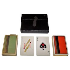 Double Deck Brown & Bigelow Remembrance Playing Cards, Art Deco Backs, c.1935