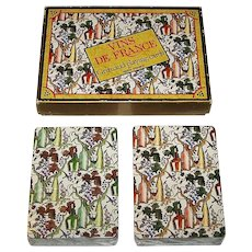 "Double Deck Grimaud ""Vins de France"" Playing Cards, 2nd Ed., Gilles Sacksick Designs, c.1991"