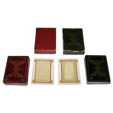 "Twin Decks Dusserre ""Jeu Bonaparte"" Playing Cards, c.1978"